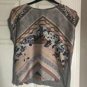 Zara Patterned Short Sleeve Top